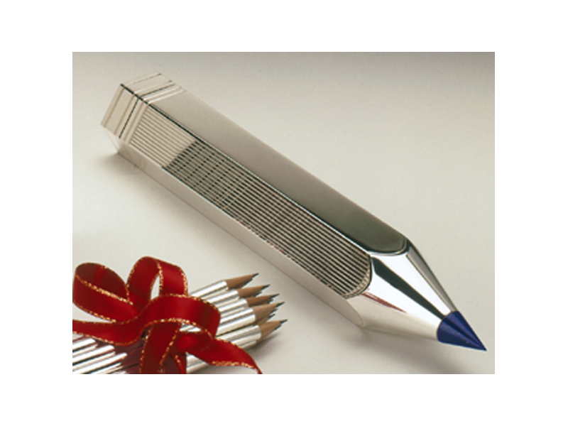 Pencil box by Clive Burr :  gift idea box silver
